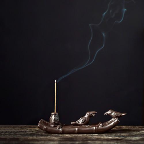 "Подставка для аромапалочек ""Бамбуковая Лодка"""