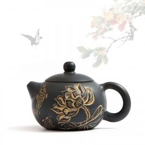Чайник Гуанси Си Ши Лотос и Карпы