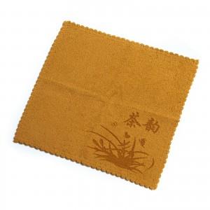Полотенце для чайной церемонии 28х28 Желтое