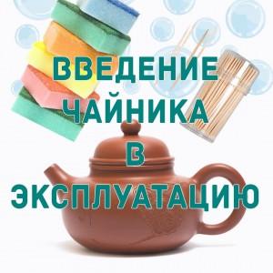 Введение чайника в эксплуатацию