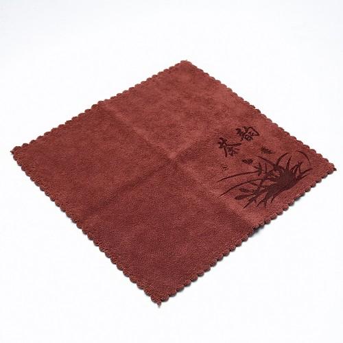 Полотенце для чайной церемонии 30х30 Орхидея №2