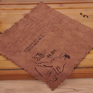 Полотенце для чайной церемонии 30х30 Чаепитие в тени бамбука